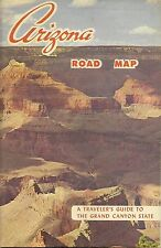 1965 ARIZONA Official State Highway Road Map Route 66 Grand Canyon Phoenix Yuma
