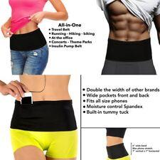 Elastic Running Belt Waist Travel Money Belt With Pockets for All Size Phone C1