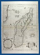 Old Map Coronelli, Isola di Madagascar o di S. Lorenzo. Venezia 1690 Rara!