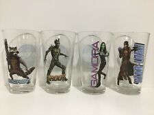 Rare Marvel Guardian of the Galaxy Glass Drinking Glasses