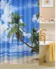 Tropical Summer Beach  FABRIC SHOWER CURTAIN,
