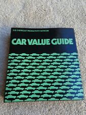 1977 Chevrolet Passenger Car Value Guide Dealer Album Color Trim Corvette Camaro