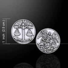 Archangel Michael .925 Sterling Silver Coin by Peter Stone