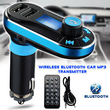 Transmisor FM Kit De Coche Bluetooth MP3 Manos Libres Cargador USB para iPhone 8 Samsung