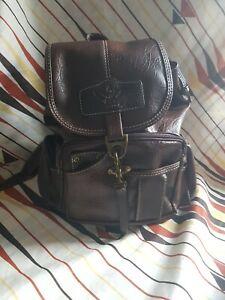 Yingdak  Retro PU Leather Backpack