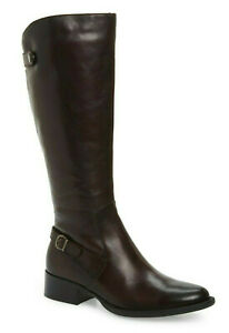 Born Cupra Women's Leather Knee High Tall Riding Boots in Burgundy Size 6.5