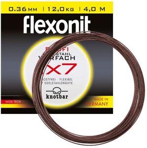 Flexonit 1x7 5 Meter Stahlvorfach Edelstahl 0.21 0.24 GERMANY