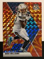 🔥2020 Panini Mosaic Mike Williams REACTIVE ORANGE Prizm #114 Chargers🔥