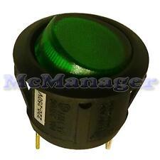 Rocker Switch 6a 250v 1 Circuit Off-on SPST Green Light