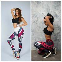 Leggings de fitness Impresión de dibujos animados de yoga Corriendo pantalones