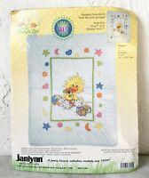 Vintage Janlynn Little Suzy's Zoo Witzy Quilt Stamped Cross Stitch Kit - Started