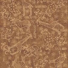 Quilting Treasures Wild Things animals Giraffe 100% cotton fabric by the yard