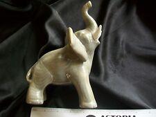Vintage Decorative Glazed Ceramic Figurine Statue / Gray Elephant/ 1972