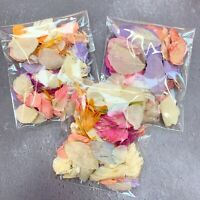 Ivory Pink BRIGHT Petals Biodegradable Wedding Confetti Dried Petal Bag PACKET