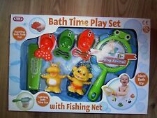 BABY BATH TIME TOY GO FISHING NET PLAY SET KIDS ACTIVITIES BATHTIME 12+ Months