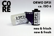 ORWO DP31 Film by C0RE • ISO 6 • 24 Exp. • b/w positive • NEW & FRESH • 35mm