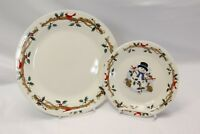 Home Essentials Woodland Celebration Dinner and Salad Plates Lot of 8
