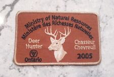 Ontario ministry of natural resources successful deer hunter patch - 2005