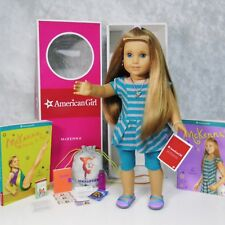 """NEW 18"""" American Girl MCKENNA DOLL, MEET OUTFIT, ACCESSORIES NECKLACE BOOKS BOX"""