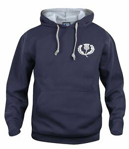 Scotland Retro Rugby Hoodie Embroidered Crest S-XXXL Free UK Delivery