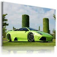 LAMBORGHINI MURCIELAGO GREEN Sports Cars Wall Art Canvas Picture AU463 X  MATAGA
