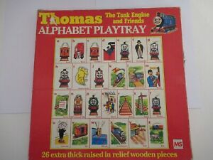 THOMAS THE TANK and friends WOODEN ALPHABET PLAYTRAY 1984, inset puzzle,