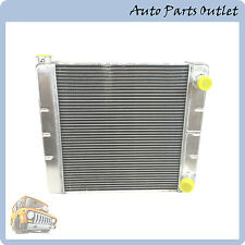 """New Radiator Racing Welded Aluminum 2 Row Double Pass  22"""" x19"""" x3"""" for Chevy GM"""