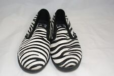 Vans Unisex Lo Pro Zebra Sneakers Slip On Animal Print Shoes Men US 5.5 W 7