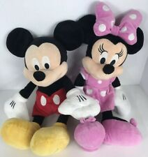 New listing Disney Store Mickey Mouse And Minnie Mouse Set Of Plush Toys 17� Tall