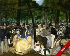 MUSIC IN THE TUILERIES PARK CANVAS GICLEE 8X10 MANET FRENCH ART PRINT