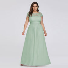 Ever-Pretty Long Lace Cap Sleeve Bridesmaid Dress Mint Green Wedding Gown 09993