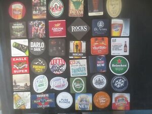 36 different AUSTRALIAN Brewery Issue, BEER & CIDER COASTERS collectable F