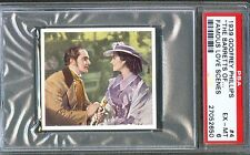 1939 Famous Love Scenes Card #4 The Barretts of Wimpole Street SHEARER PSA 6
