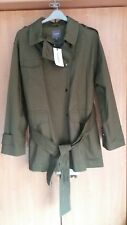"L@@K NEXT NWT SIZE 18 ARMY MILITARY STYLE GREEN TRENCH COAT WE 46"" BUST RRP £58"