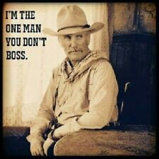 Lonesome Dove Gus Quote refrigerator magnet  3 1/2 x 3 1/2""
