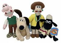 Wallace & Gromit Shaun the Sheep Wendolene Plush Soft Toys Close Shave x4 Bundle