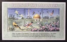 MALDIVES BIRDS STAMPS SHEET 6V 2002 MNH ORIOLE KESTREL PARAKEET NATURE WILDLIFE