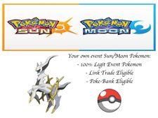 Pokemon Sun and Moon XY ORAS 20th Anniversary Event Pokemon Arceus w/ PP Max