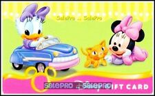 DISNEY 2010 DAISY DUCK DRIVING & BABY MINNIE PLAYING TOYS COLLECTIBLE GIFT CARD