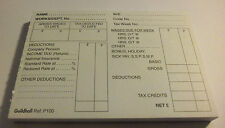 "100 Sheet Pad 3.5"" x 5"" Guildhall Pre-Printed PAYE Wage Pay Slips Payslips Wages"
