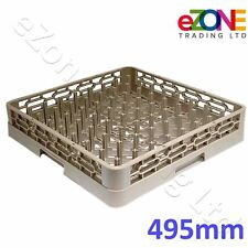 Commercial Kitchen Dishwasher Rack Basket Tray Plate Glass Pot Pegged 495x495mm
