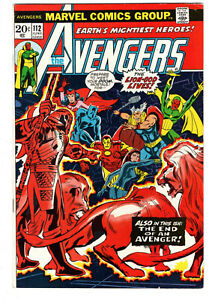 AVENGERS #112 (1973) - GRADE 7.5 - 1ST APPEARANCE OF MANTIS - T'CHALLA KIDNAP!