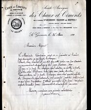 JOUET-sur-l'AUBOIS (18) USINE ST-GERMAIN / CHAUX & CIMENT de BEFFES en 1910