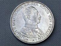 German Reich Prussia 3 Silver Mark 1914 Kaiser Wilhelm II Uniform Imperial Eagle