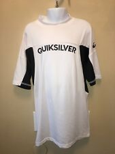 quicksilver youth  large sport shirt white and black