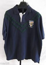 NWT Polo Ralph Lauren Navy blue w Green Stripe Polo SS shirt Mens Size 3X Big