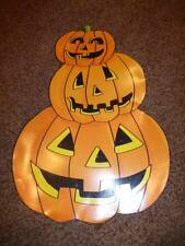 Halloween Die Cut Paper Decoration 3 Stacked Happy Pumpkin  Glitter  Lantern