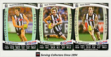 2011 AFL Teamcoach Trading Cards Prize Card Team Set Collingwood (3)