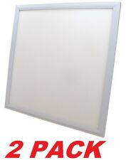 Recessed LED flat panel light fixture 2' x 2' fluorescent REPLACEMENT (2 PACK)
