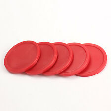 5Pcs Mini style Red 2-inch Air Hockey Table Pucks Kits 50mm Puck Children Table